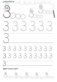 Κάρτες διδασκαλία των αριθμών prescrittura | Lamammacreativa