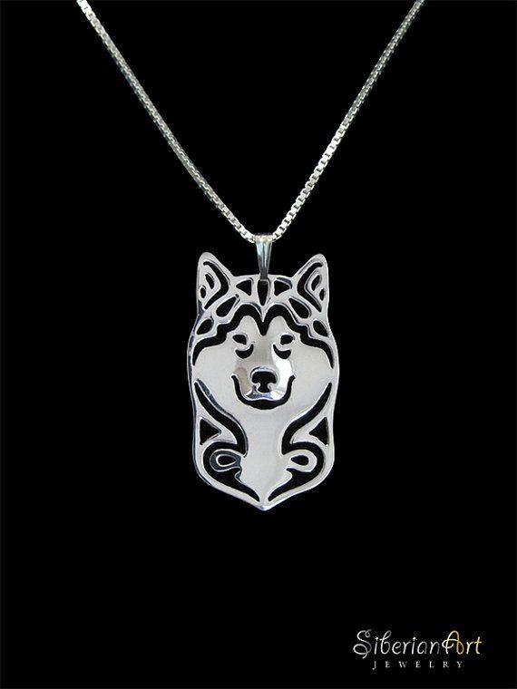Alaskan Malamute jewelry  sterling silver by SiberianArtJewelry