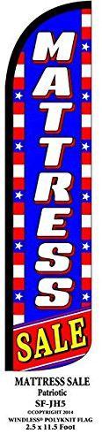 Mattress Sale Patriotic Windless Swooper Feather Banner Flag Sign