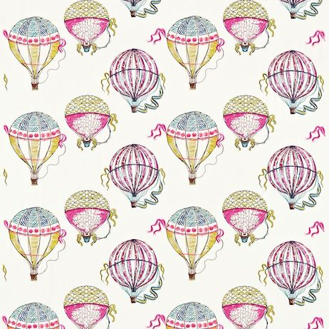 Sanderson Beautiful Balloons Fabric DBLL232298 Designer Fabrics and Wallpapers by Sanderson, Harlequin, Morris, Osborne, Little And many more