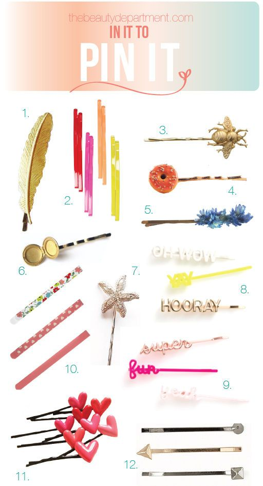 Want them all. // The Beauty Department: Your Daily Dose of Pretty. - Favorite bobby pins!