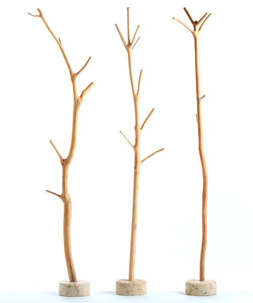 Mantelstock als Garderobe // Wooden clothes rack with branches by neostars via DaWanda.com