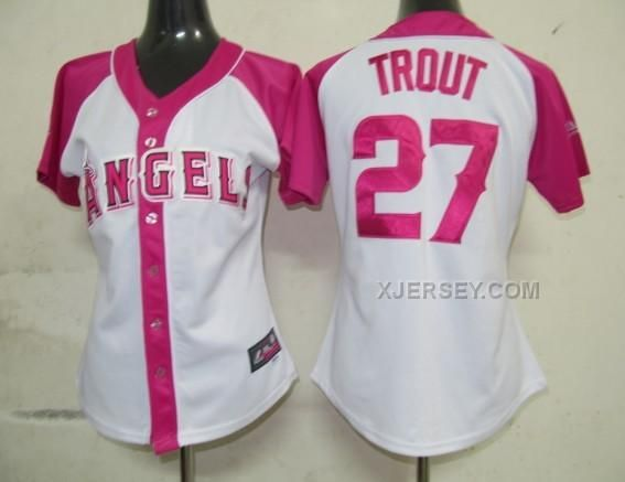 http://www.xjersey.com/angels-27-trout-pink-women-jersey.html ANGELS 27 TROUT PINK WOMEN JERSEY Only $35.00 , Free Shipping!