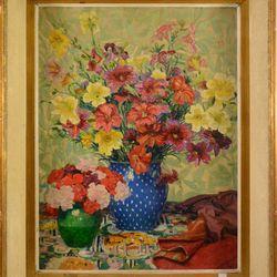 """RION Lucien Peinture HST """" Bouquet de printemps"""" signée Lucien Rion ( 60 x 45cm)"""