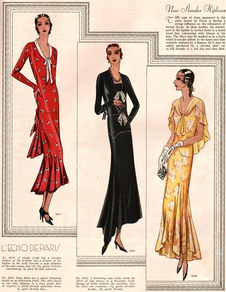 what-i-found: L'Echo De Paris - 1930 Fashions