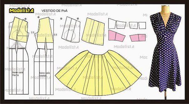 Dress Telas - prendas de punto, patrones, costura, costura | VK