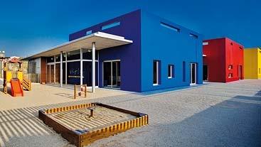 Guarderías, escuelas o centros de juego se alejan de su meliflua estética convencional para lucir una arquitectura rabiosamente contemporánea.