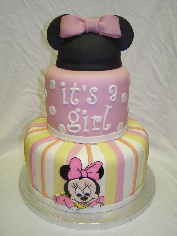 Baby girl Minnie cake, not just for baby shower.