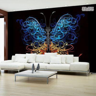 Wall Art 3d Effect Wallpaper Murals For Modern Living Rooms Living Room Wall Wallpaper Wall Wallpaper 3d Wallpaper Mural