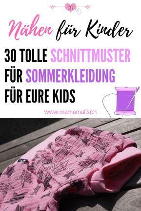 Sommerkleider nähen für Kinder – 30 Schnittmuster