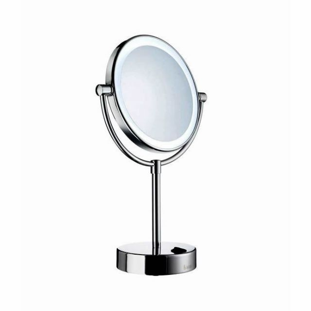Illumination without plugs  batteries in the base  Smedbo Outline LED  Illuminated Make up Mirror. 17 Best images about Make up   Shaving Mirrors on Pinterest