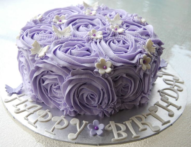Simply Sweets by Honeybee: Lavender Rose Cake - perfect for Grandma's birthday party