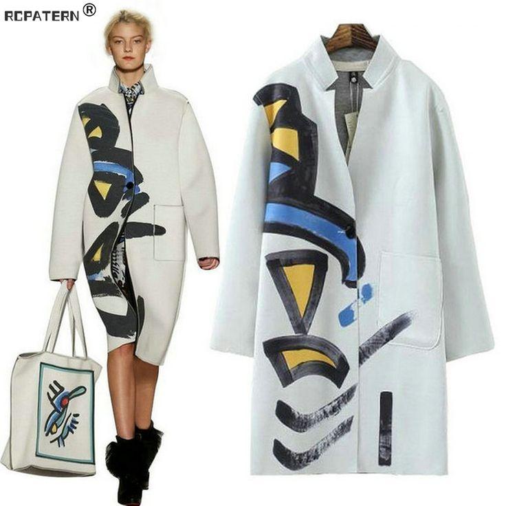 Купить товарБесплатная доставка! Женское осеннее пальто с V образным вырезом на шее. Женское пальто в красивом принте в категории Стандартные курткина AliExpress. [модель xl-[фото]-[0000]