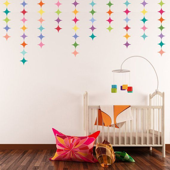 28 Multicolor Modern Diamond Wall Decals Removable And Reusable Eco Friendly Matte Fabric Wall Stic Reusable Wall