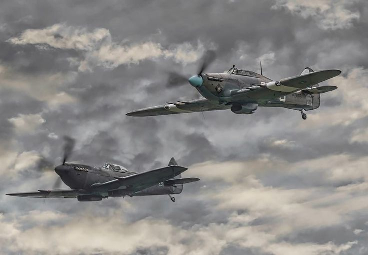 BBMF Hurricane Mk IIc PZ865 and Spitfire Mk LF XVIE TE311 At Duxford Battle of Britain Airshow 2017. #warbirds #warbirdsinflight #warbirdphotographer #warplane #ww2 #ww2planes #ww2history #secondworldwar #sonya9 #aviationphotography #battleofbritain #bbmf #raf #duxfordairshow #hurricane #spitfire #instaplane #aircraftsphotos #aircraftrestoration #planespotting #planesofinstagram