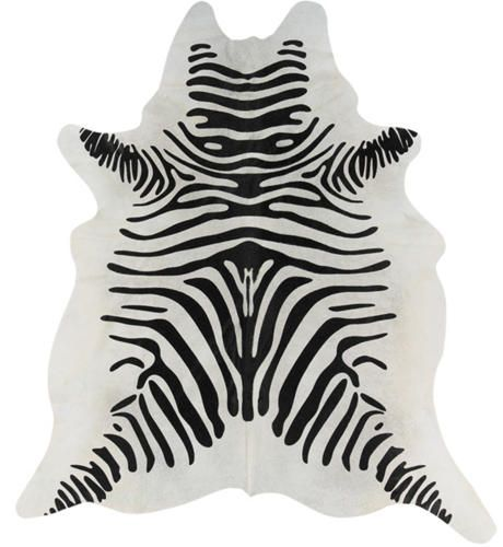 bring some global influence to your room with this natural cowhide zebra print rug - Zebra Print Rug