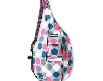 Monogrammed Kavu Rope Bag - Got Dots | Monogram Crossbody Bag | Teens | Women | Outdoors Satchel | Gift for Her | Canvas Sling Bag