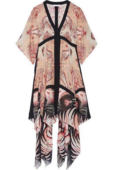 Rachel Zoe - Miranda Asymmetric Printed Silk Midi Dress - Blush - US8