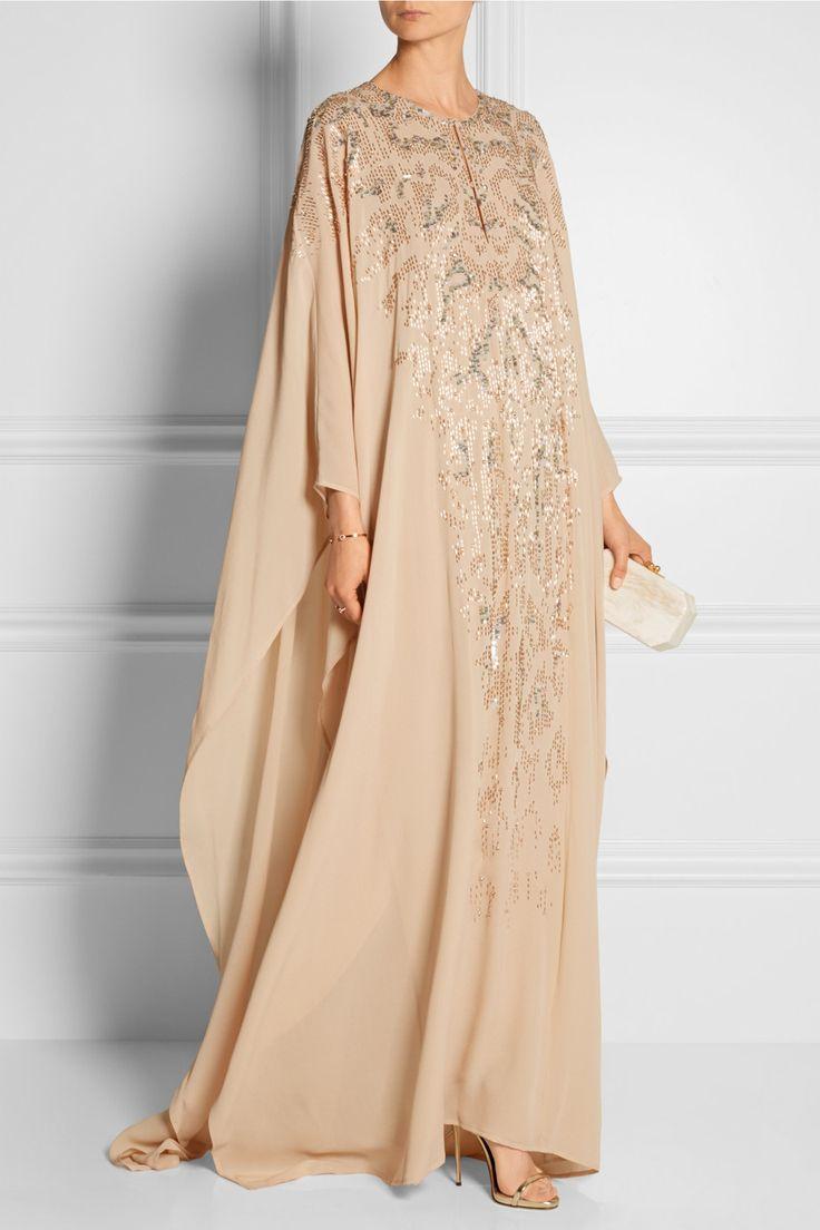Roberto Cavalli | Embellished silk-georgette gown | NET-A-PORTER.COM