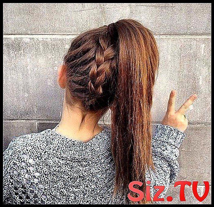 Teen Girl Hairstyle - 74 idées de coiffure simples et rapides Coiffure avec tresse et queue #braid #hairstyle #ideas #simple - #coiffure
