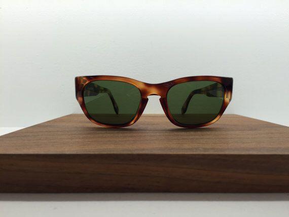 1990's Jil Sander  tortoise shell sunglasses with green lenses by blackandbluevintage on Etsy https://www.etsy.com/listing/222016437/1990s-jil-sander-tortoise-shell