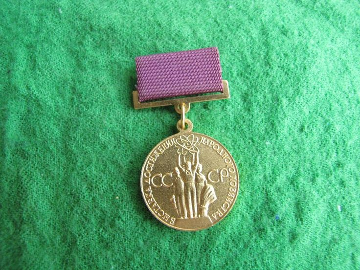 1960s USSR Russia VDNH Exhibition Participant Work Merit Medal Pin Badge