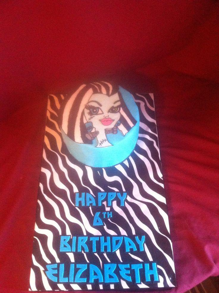 Monster High Frankie Stein Cake