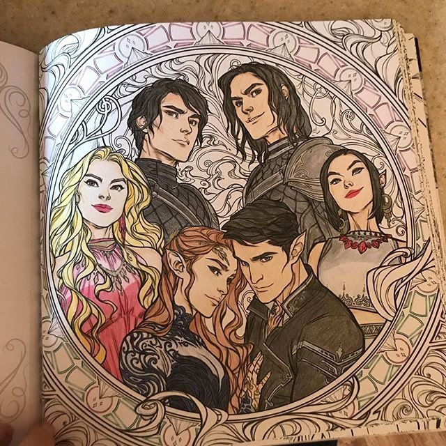 Court Of Thorns And Roses Coloring Book Lovely Acotar Coloring