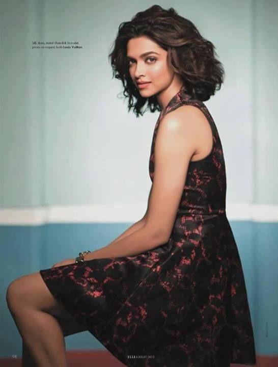 Deepika Padukone poses for her Elle India magazine photoshoot. #Bollywood #Fashion