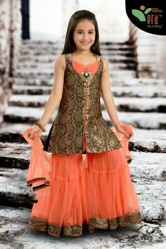 Orange palazzo dress