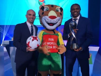 Photos: Kanu Nwankwo Esteban Cambiasso attend FIFAU17WC Draw in India