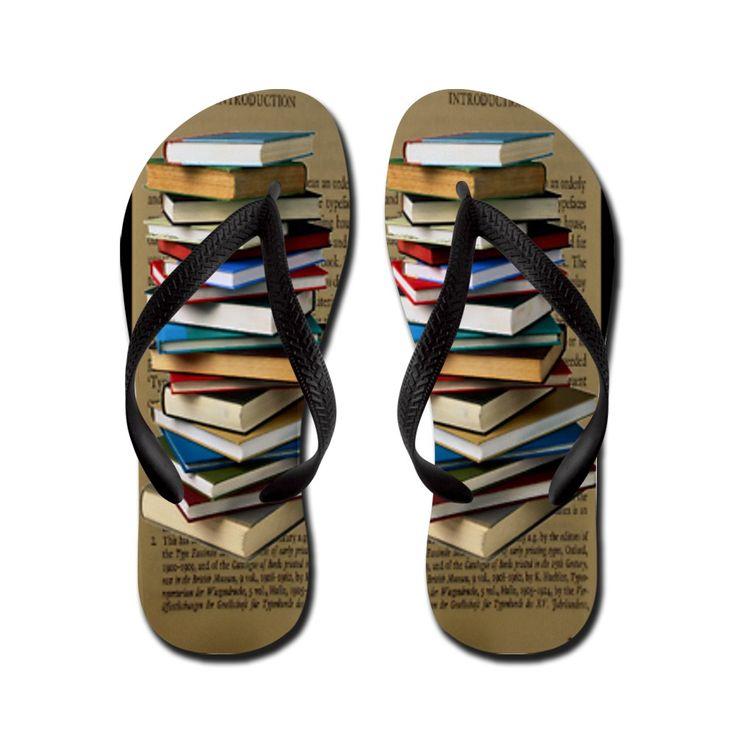 Book Lovers Flip Flops Flip Flops by GailGabel