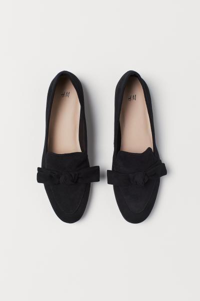 89c98b72592 Loafers med rosett - Svart - DAM | H&M SE 2 Loafers med rosett - Svart