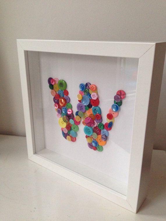 Baby Nursery Multicoloured Rainbow Letter by BuckleyandBlythe