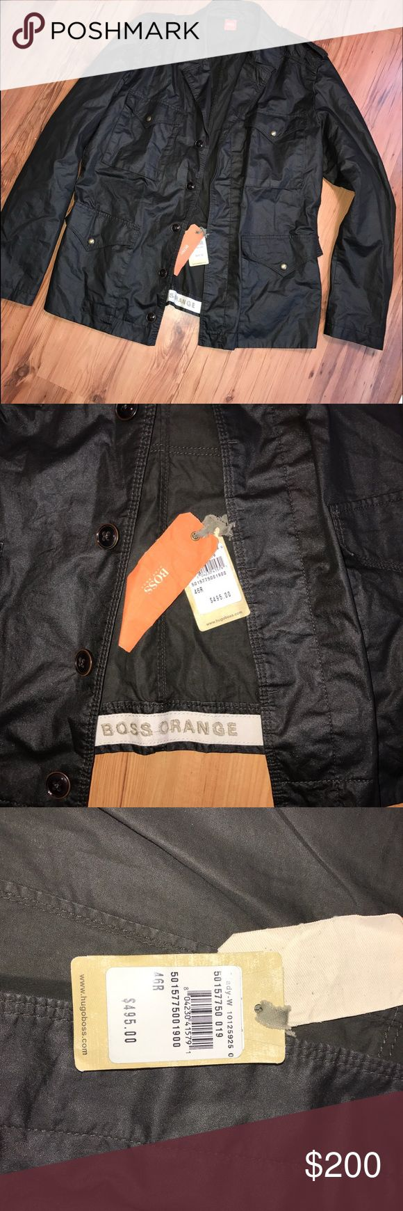 Men's boss jacket! NEW with tag men's black boss jacket from Nordstrom size is a 46R which I'd say fits like a regular XL BOSS ORANGE Jackets & Coats