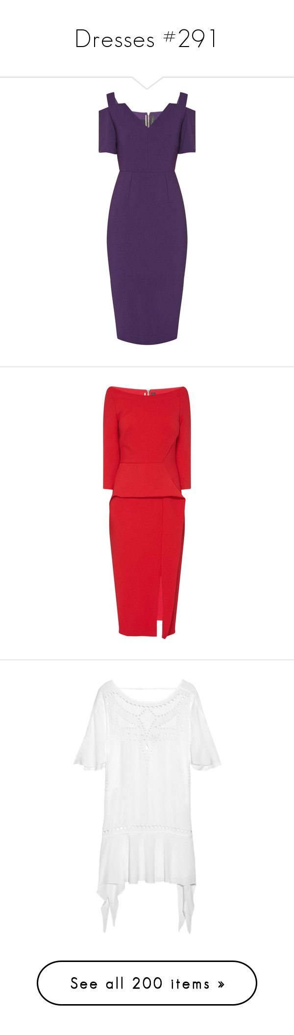 """Dresses #291"" by bliznec ❤ liked on Polyvore featuring dresses, v-neck dresses, crepe dress, drape sleeve dress, below the knee dresses, pencil dresses, red dress, roland mouret dress, peplum pencil dress and pleated dresses"