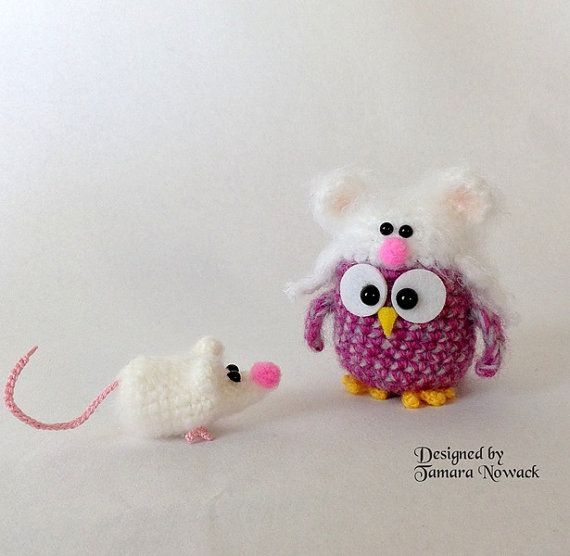 Owls in hats amigurumi PDF ebook crochet pattern by Nowacrochet