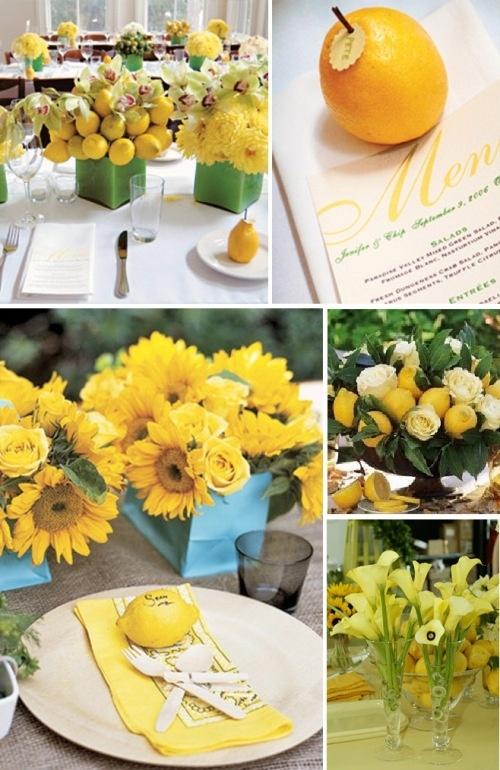 Lemon Yellow Party Theme Guest Names Are Written Lemons