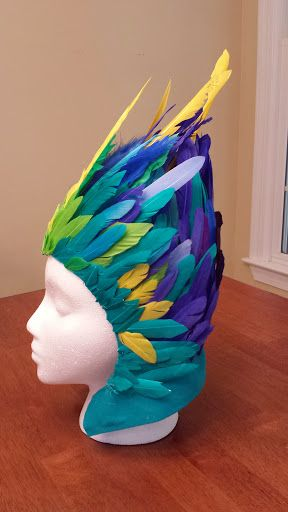 Toothiana Costume (Rise of the Guardians) - head piece for my 5 y/o daughter (side) #rotg #cosplay