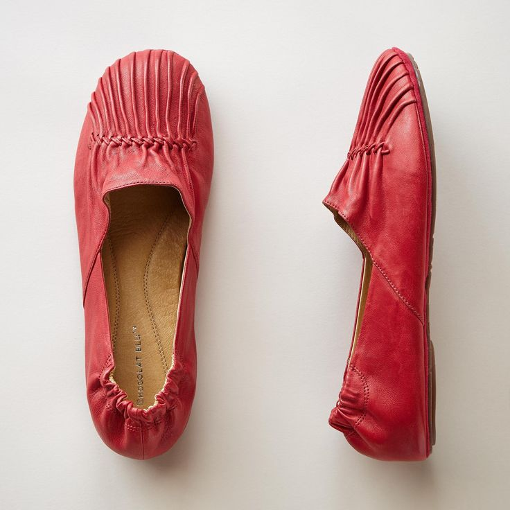... flats in super soft sheepskin leather with a new higher vamp flirt with  a tucked toe and hand whipstitching, cushioned insoles, elasticized heels,  ...