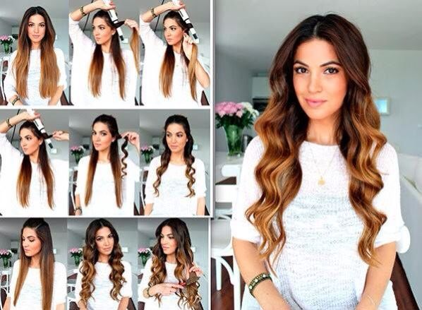 How to curl hair with a curling wand for fantastic waves !