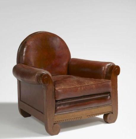 Louis Sue and Andre Mare armchair. I like the way the feet curl inwards. (Alt views on auction site).