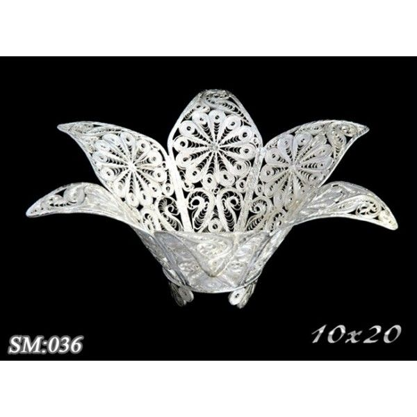 filigree silver sugar bowl
