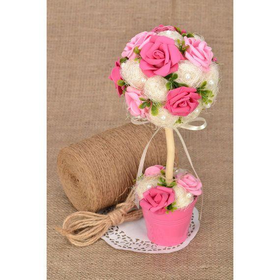 Gift for women Hot pink topiary Women's gift by KseniyaRevta