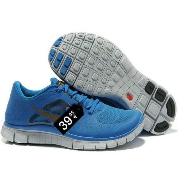 save off 299cf 7d6b0 Zapatillas NK Free Run Azul (Logo Dorado) - Modaporencargo.com Nike Free 5.0+  ...