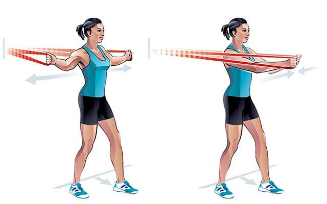 Chest Exercises With Resistance Bands Resistance Band Chest Fly