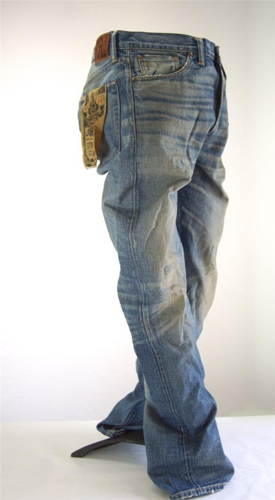 RRL Ralph Lauren Double RL Mens Jeans Straight Leg Japan Woven Selvedge