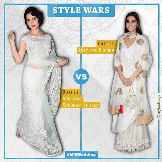 It's official! White is the 'IT' colour for this wedding season. Whose your favourite tho? #StyleWars #MMWedding #MyFashTags