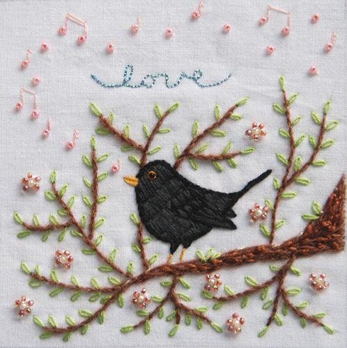 embroidered  #bird
