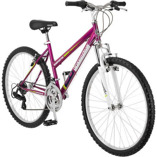 """Ladies Mountain Bike 26"""" Magenta  NEW Bicycle Cycling Riding Trail Safety Sports"""